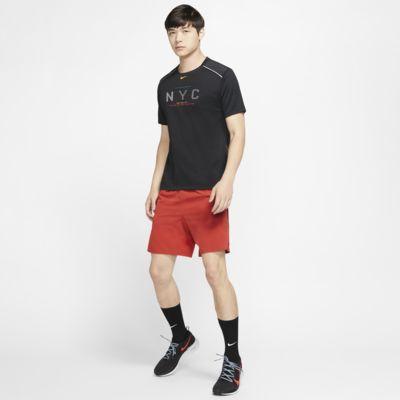 Kortærmet Nike Dri-FIT Miler NYC-løbeoverdel til mænd