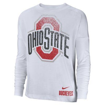 Nike College Breathe (Ohio State) Women's Long-Sleeve Top