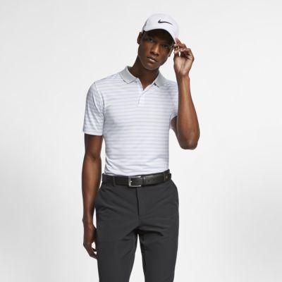Nike Dri-FIT Victory Çizgili Erkek Golf Polo Üst