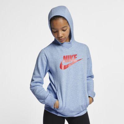 Nike Sportswear hettegenser med grafikk til store barn (jente)