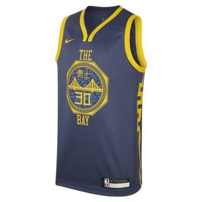 金州勇士队 City Edition SwingmanNike NBA Jersey 大童(男孩)球衣