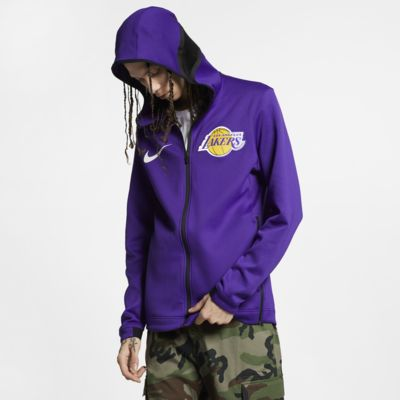 Hoodie NBA Los Angeles Lakers Nike Therma Flex Showtime para homem
