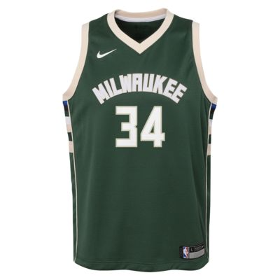 Dres NBA Giannis Antetokounmpo Milwaukee Bucks Nike Icon Edition Swingman pro větší děti