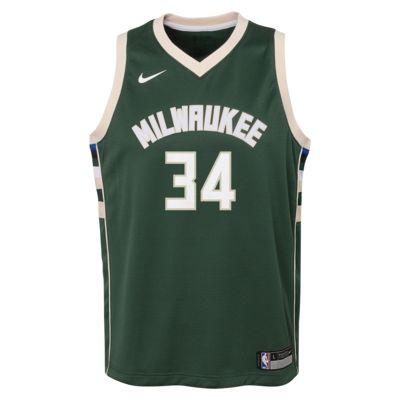 Maillot de NBA Giannis Antetokounmpo Milwaukee Bucks Nike Icon Edition Swingman pour Enfant plus âgé