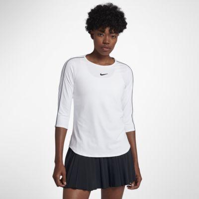 Damska koszulka z rękawem 3/4 do tenisa NikeCourt