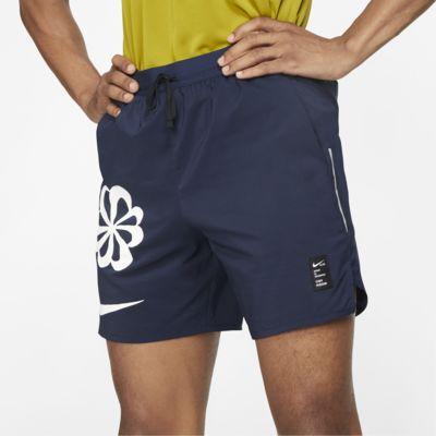 กางเกงวิ่งขาสั้นผู้ชายมีกราฟิก Nike Dri-FIT Flex Stride