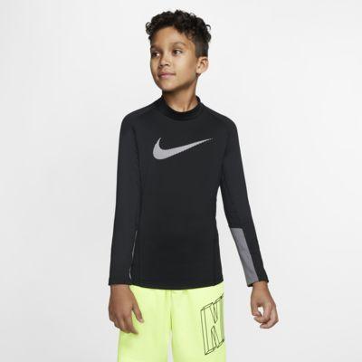 Haut de training à manches longues et col montant Nike Pro Therma pour Garçon plus âgé