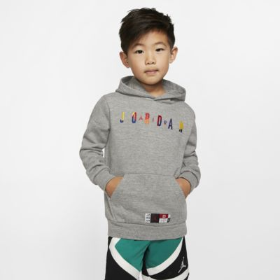 Φλις μπλούζα με κουκούλα Air Jordan για μικρά παιδιά