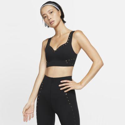 Спортивное бра с высокой поддержкой и металлическими деталями Nike