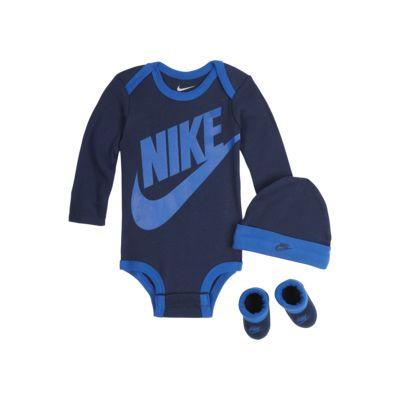Zestaw body, czapka i buciki dla niemowląt Nike