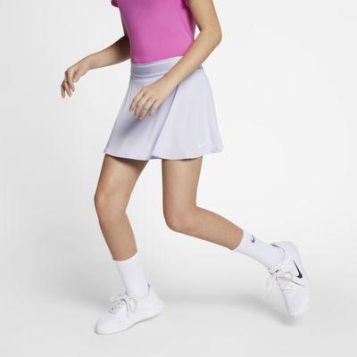 NikeCourt tennisskjørt til store barn (jente)