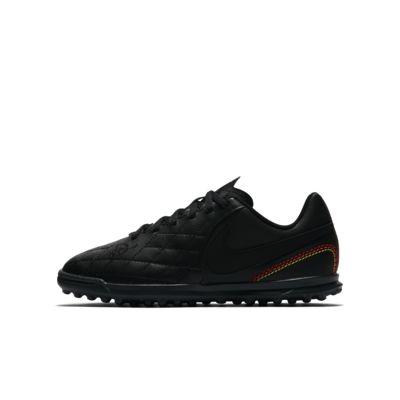 Nike Jr. TiempoX Ligera IV TF Older Kids' Artificial-Turf Football Shoe Black PZ7379679
