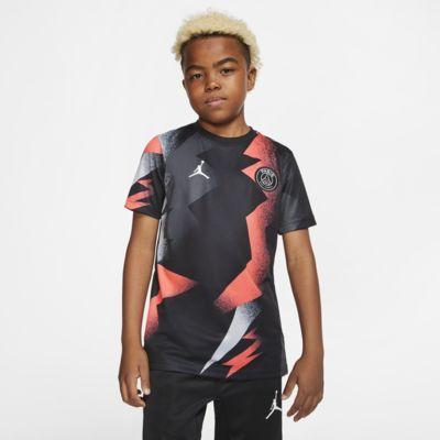 Camiseta de fútbol de manga corta para niño Jordan x Paris Saint-Germain