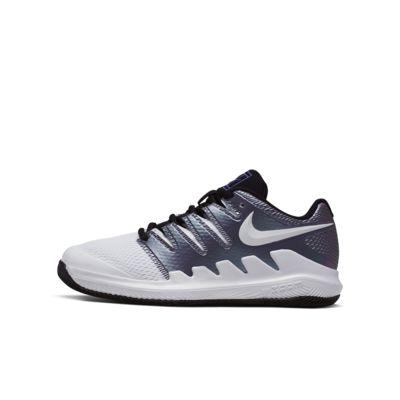 Calzado de tenis para niños talla pequeña/grande NikeCourt Jr. Vapor X