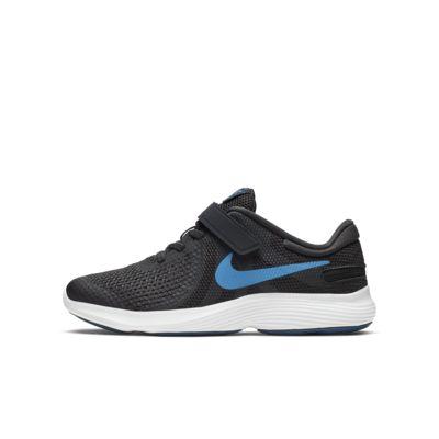 Беговые кроссовки для школьников Nike Revolution 4 FlyEase, Off Noir/Мощный синий/Оловянный металлик/Светло-голубой поток, 23562070, 12685434  - купить со скидкой