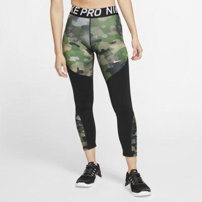 กางเกงรัดรูปลายพรางผู้หญิง Nike Pro