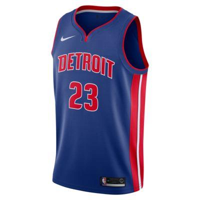 Camiseta conectada Nike NBA para hombre Blake Griffin Icon Edition Swingman (Detroit Pistons)