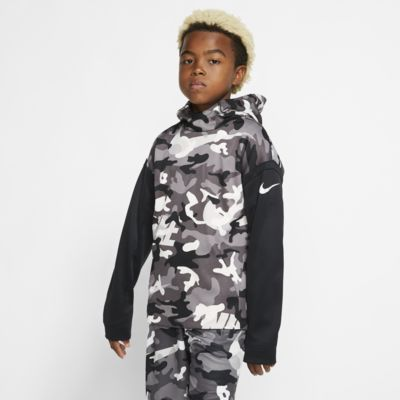 Nike Therma Boys' Camo Training Pullover Hoodie