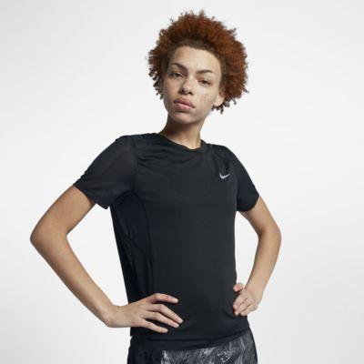 Nike Dri-FIT Miler Kurzarm-Laufoberteil für Damen