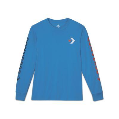 Converse Star Chevron Wordmark Men's Long Sleeve T-Shirt