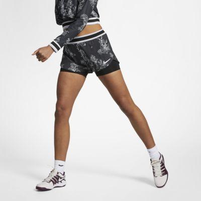 NikeCourt Flex Tennisshorts met print voor dames
