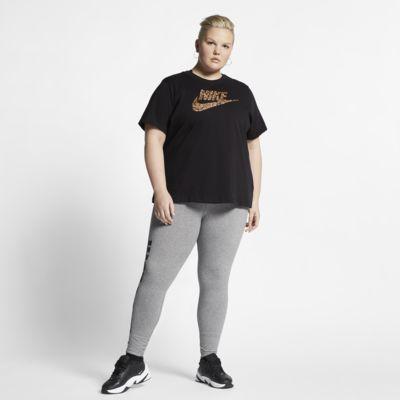 Dámské tričko Nike Sportswear Animal Print s krátkým rukávem (větší velikost)
