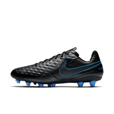 Купить Футбольные бутсы для игры на искусственном газоне Nike Tiempo Legend 8 Pro AG-PRO, Черный/Легендарный синий/Черный, 23243498, 12633100