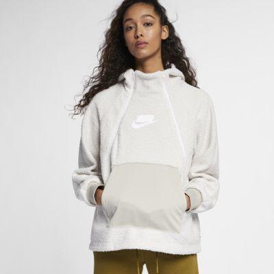 Nike Sportswear NSW Sudadera con capucha de tejido Sherpa - Mujer