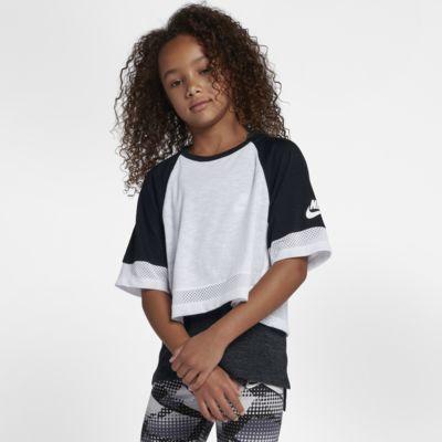 Top corto de manga corta para niña talla grande Nike Sportswear