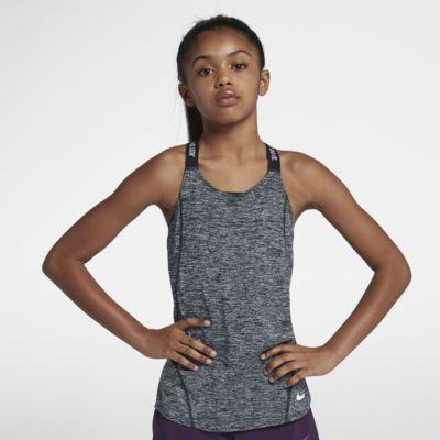 Nike Dri-FIT treningssinglet til store barn (jente)