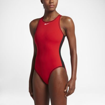 Women's Tank Swimsuit. Nike Water Polo Solid High Neck