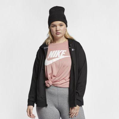 Женская худи с молнией во всю длину Nike Sportswear (большие размеры)