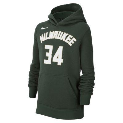 Giannis Antetokounmpo Milwaukee Bucks Nike Big Kids' NBA Pullover Hoodie