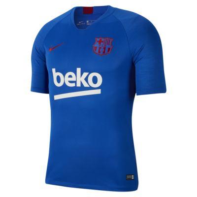 Prenda para la parte superior de fútbol de manga corta para hombre Nike Breathe FC Barcelona Strike