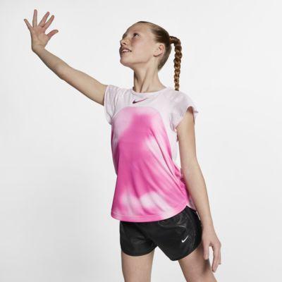 Nike Instacool-løbeoverdel med korte ærmer til store børn (piger)
