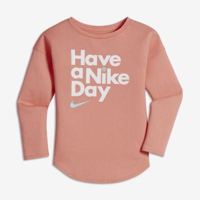 Nike little kids 39 girls 39 long sleeve t shirt for Nike custom t shirts