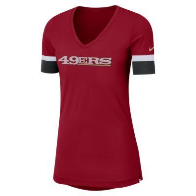 Nike Dri-FIT Fan V (NFL 49ers) Women's Short-Sleeve Top