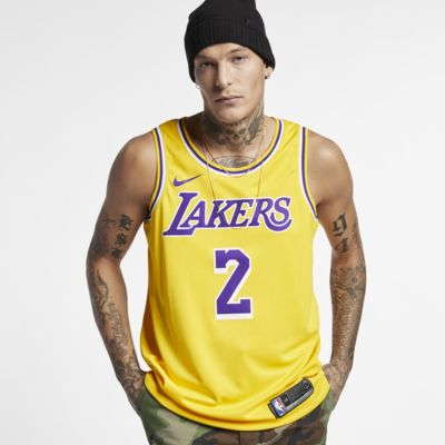 Maillot connecté Nike NBA Lonzo Ball Icon Edition Swingman (Los Angeles Lakers) pour Homme