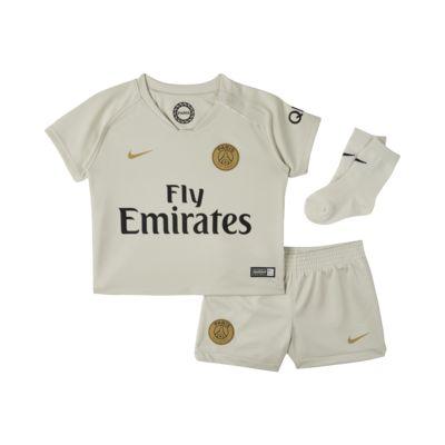 Kit de fútbol para bebé e infantil de visitante Stadium del Paris Saint-Germain 2018/19