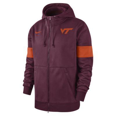Nike College Therma (Virginia Tech) Men's Full-Zip Hoodie