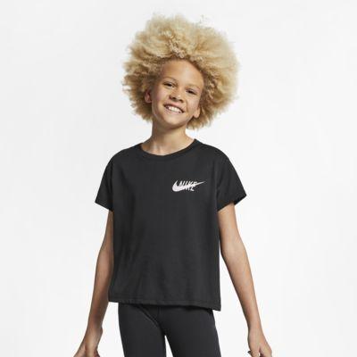 Prenda superior de entrenamiento manga corta para niña talla grande Nike Dri-FIT