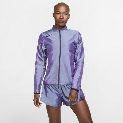 Nike løpejakke med hel glidelås til dame