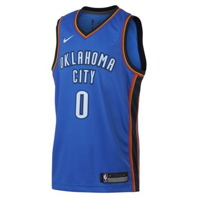 Russell Westbrook Oklahoma City Thunder Nike Icon Edition Swingman Big Kids' NBA Jersey
