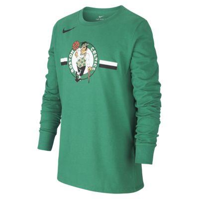 T-shirt dla dużych dzieci z długim rękawem NBA Boston Celtics Nike Dri-FIT Logo