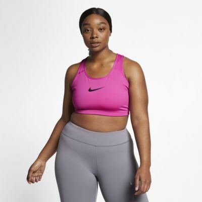 Sportovní podprsenka Nike Swoosh se střední oporou (větší velikost)