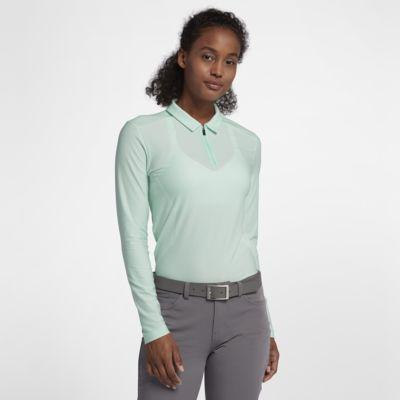 Nike Zonal Cooling Langarm-Golf-Poloshirt für Damen