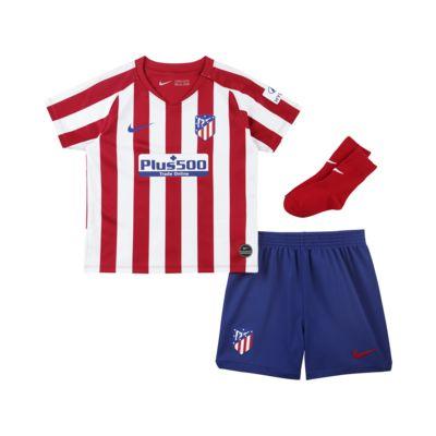 Kit de fútbol de local para bebé e infantil del Atlético de Madrid 2019/20