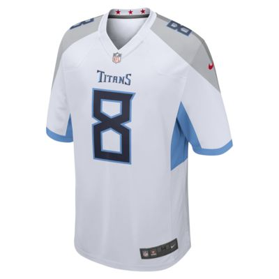 NFL Tennessee Titans (Marcus Mariota) Men's Football Away Game Jersey