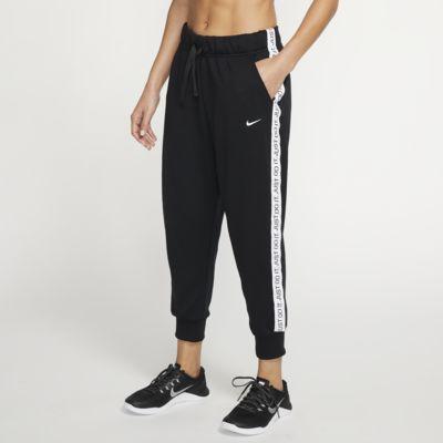 Träningsbyxor i fleece Nike Dri-FIT Get Fit i 7/8-längd för kvinnor