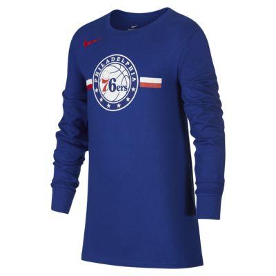 费城 76 人队 Nike Dri-FITNBA大童(男孩)长袖T恤